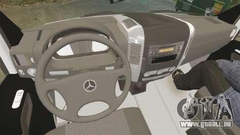 Mercedes-Benz Sprinter Spanish Television Van für GTA 4 Rückansicht