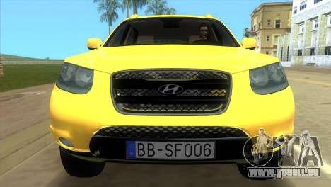 Hyundai Santa Fe 2006 pour GTA Vice City vue arrière
