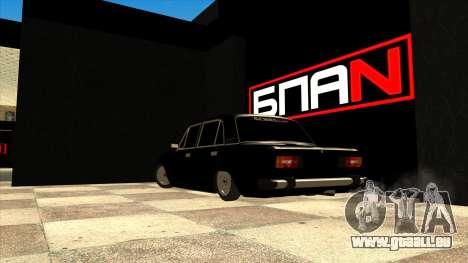 Le garage de Doherty BPAN pour GTA San Andreas deuxième écran
