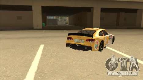 Chevrolet SS NASCAR No. 7 Florida Lottery für GTA San Andreas rechten Ansicht