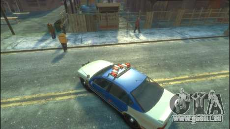 Polizei von GTA 5 für GTA 4 Rückansicht