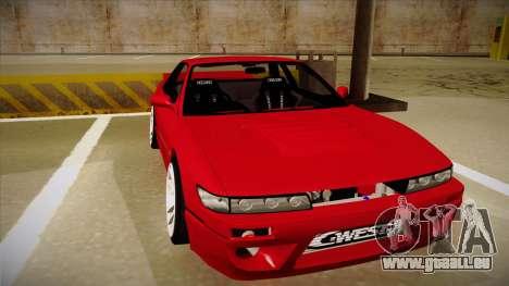 Nissan Silvia S13 Rocket Bunny für GTA San Andreas linke Ansicht