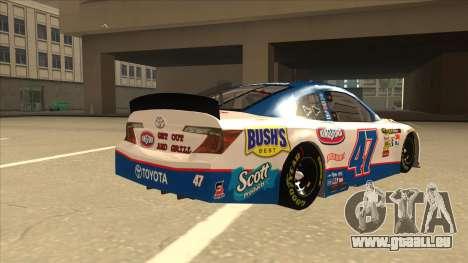 Toyota Camry NASCAR No. 47 Kingsford pour GTA San Andreas vue de droite