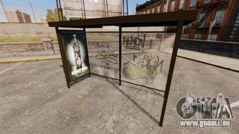 Publicité réelle aux arrêts d'autobus pour GTA 4 troisième écran