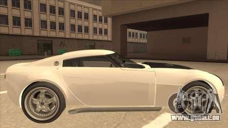 Melling Hellcat pour GTA San Andreas sur la vue arrière gauche