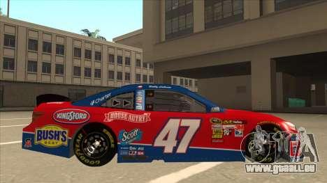 Toyota Camry NASCAR No. 47 House-Autry für GTA San Andreas zurück linke Ansicht