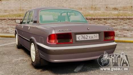 Volga gaz-3110 pour GTA 4 Vue arrière de la gauche