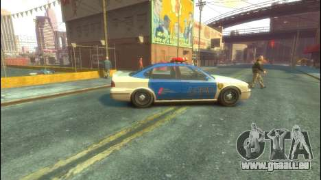 Polizei von GTA 5 für GTA 4 hinten links Ansicht