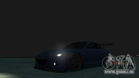 Mazda RX-8 R3 pour GTA 4 est une vue de l'intérieur