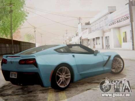 Chevrolet Corvette C7 Stingray 2014 pour GTA San Andreas sur la vue arrière gauche