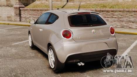 Alfa Romeo MiTo für GTA 4 hinten links Ansicht