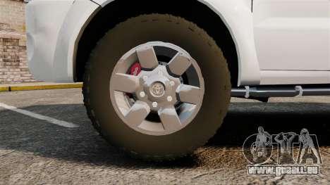 Toyota Hilux Croatian Police v2.0 [ELS] pour GTA 4 Vue arrière