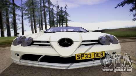 Mercedes-Benz SLR Mclaren für GTA San Andreas zurück linke Ansicht