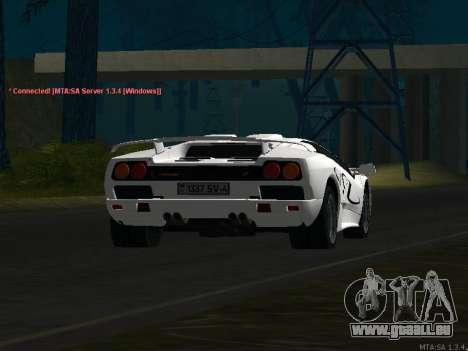 Lamborghini Diablo SV v2 für GTA San Andreas Seitenansicht