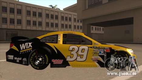 Chevrolet SS NASCAR No. 39  Wix Filters für GTA San Andreas zurück linke Ansicht
