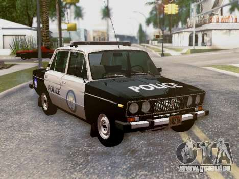 VAZ 2106 Los Santos Polizei für GTA San Andreas Innen