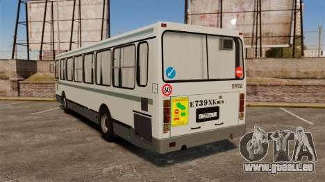 LIAZ-5256 45-01 pour GTA 4 Vue arrière de la gauche