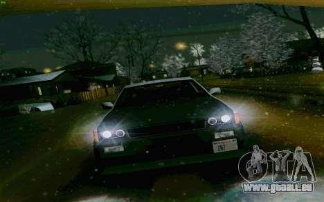 Blista Compact Type R pour GTA San Andreas sur la vue arrière gauche