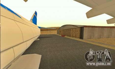 Andromada GTA V pour GTA San Andreas vue arrière