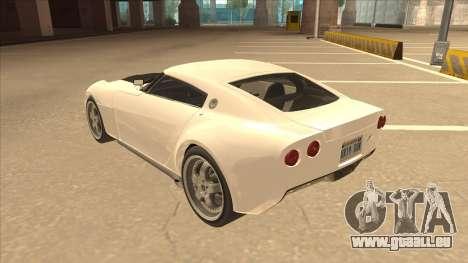 Melling Hellcat pour GTA San Andreas vue arrière
