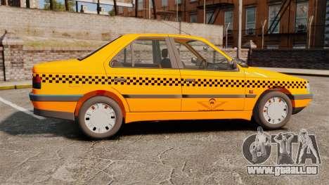 Peugeot 405 GLX Taxi für GTA 4 linke Ansicht