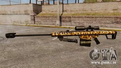 Die Barrett M82 Sniper Gewehr v10 für GTA 4 dritte Screenshot