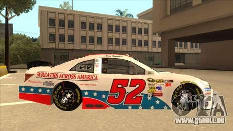 Toyota Camry NASCAR No. 52 TruckerFan für GTA San Andreas zurück linke Ansicht