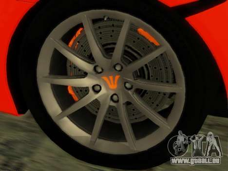 McLaren MP4-12C WheelsAndMore pour GTA San Andreas