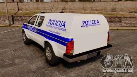 Toyota Hilux Croatian Police v2.0 [ELS] pour GTA 4 Vue arrière de la gauche
