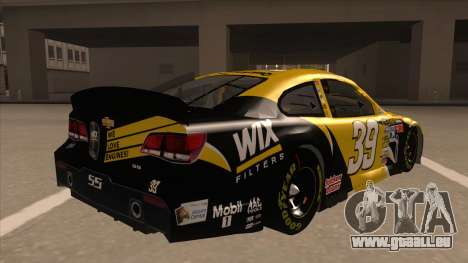 Chevrolet SS NASCAR No. 39  Wix Filters für GTA San Andreas rechten Ansicht