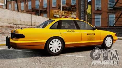 Taxi avec nouveau disque v2 pour GTA 4 est une gauche