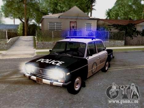VAZ 2106 Los Santos Police pour GTA San Andreas vue de côté