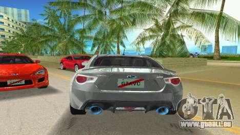 Subaru BRZ Type 3 pour une vue GTA Vice City de la droite