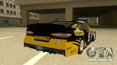 Ford Fusion NASCAR No. 9 Stanley DeWalt pour GTA San Andreas vue de droite