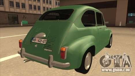 Zastava 750 Classic pour GTA San Andreas vue de droite
