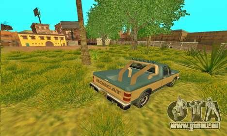 Bobcat Offroad Rüstung für GTA San Andreas zurück linke Ansicht