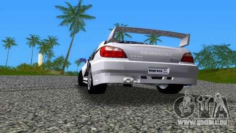 Subaru Impreza WRX v1.1 pour GTA Vice City vue de dessous