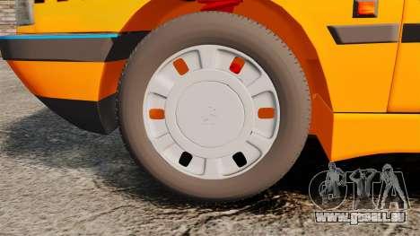 Peugeot 405 GLX Taxi für GTA 4 Rückansicht