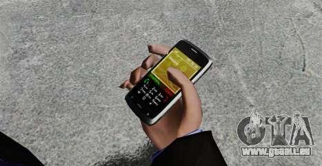 Communicator ZTE Blade für GTA 4 Sekunden Bildschirm