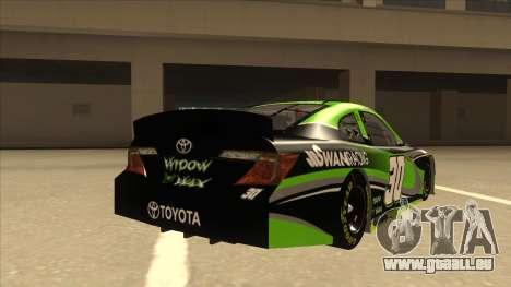 Toyota Camry NASCAR No. 30 Widow Wax pour GTA San Andreas vue de droite