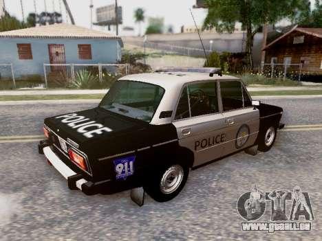 VAZ 2106 Los Santos Police pour GTA San Andreas roue