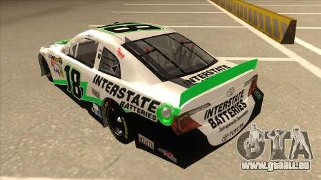 Toyota Camry NASCAR No. 18 Interstate Batteries für GTA San Andreas Rückansicht