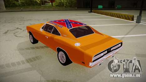 Dodge Charger 1969 (general lee) für GTA San Andreas Rückansicht