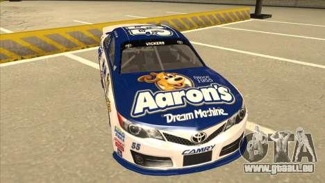 Toyota Camry NASCAR No. 55 Aarons DM white-blue für GTA San Andreas linke Ansicht