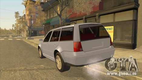 Volkswagen Jetta Wagon pour GTA San Andreas laissé vue