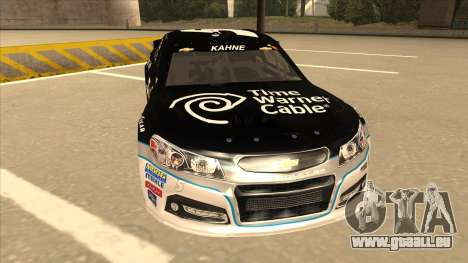 Chevrolet SS NASCAR No. 5 Time Warner Cable für GTA San Andreas linke Ansicht