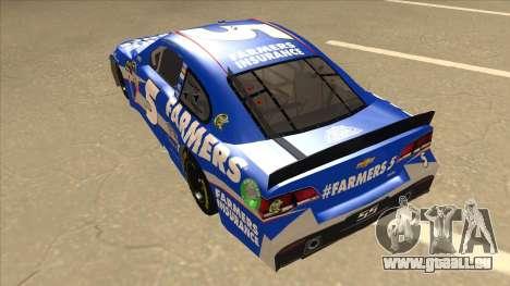 Chevrolet SS NASCAR No. 5 Farmers Insurance pour GTA San Andreas vue arrière