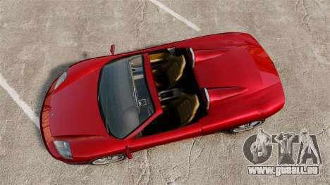 Turismo Spider pour GTA 4 Vue arrière de la gauche
