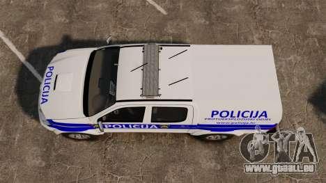 Toyota Hilux Croatian Police v2.0 [ELS] pour GTA 4 est un droit