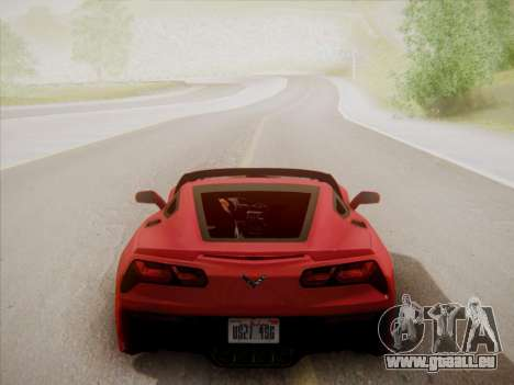 Chevrolet Corvette C7 Stingray 2014 pour GTA San Andreas vue de côté